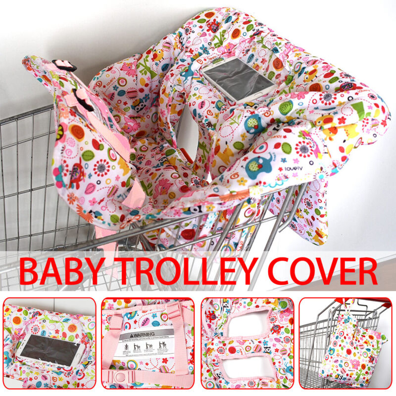 Foldable Baby Shopping Trolley Cover Cart Seat Pad Kid Chair Protective Mat