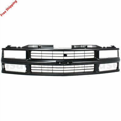 New For CHEVROLET C2500 K2500 Fits 1994-2000 Black Grille GM1200239 15981092
