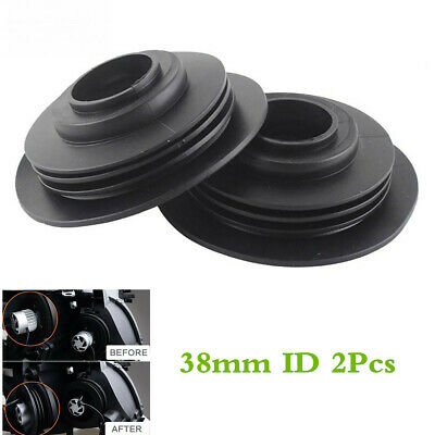 2xWaterproof Rubber Dust Cover For Car Motorcycle LED Headlight Kit Bulb 38mm ID