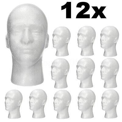 12pcs Male Styrofoam Foam Mannequin Manikin Head Wig Display Hat Glasses Stand