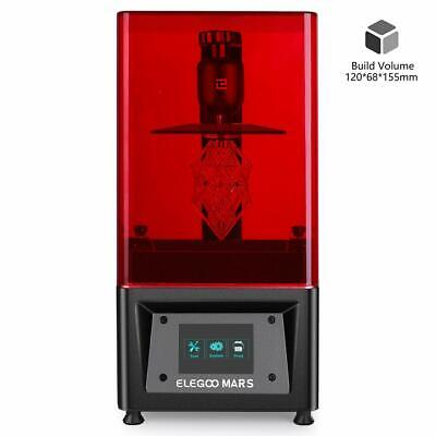 """ELEGOO MARS UV Photocuring LCD 3D Printer With 3.5"""" Smart Touch Color Screen NEW"""
