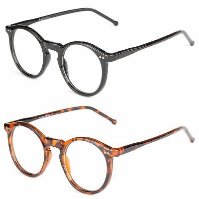 Fashion Round Retro Plastic  Frame Clear Lens Eye Glasses Large Oversized (Large Circular Frame)
