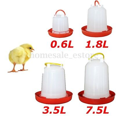 Poultry Birds Feeder Water Drinking Cups Chicken Hen Fowl Feed Drinkers