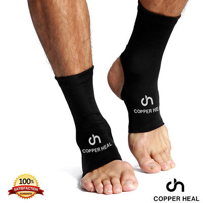 ANKLE Compression Sleeve (PAIR) by COPPER HEAL - Highest Copper Infused Socks