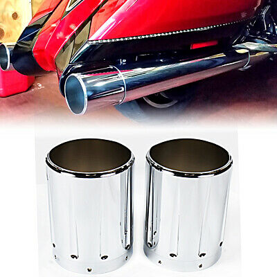 Chrome Shallow Cut Exhaust tips Fit Victory Hardball Cross Country Roads Vision