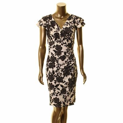 LAUREN RALPH LAUREN NEW Women's Brisa Floral Faux Wrap Dress TEDO