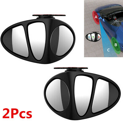 2Pcs Adjustable Blind Spot Mirrors Wing Car Driving Safety Rear View Wide Angle