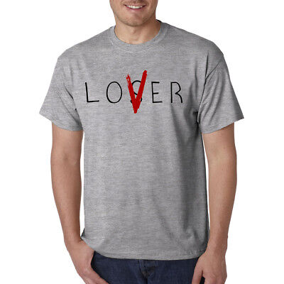 Lover / Loser T-Shirt - Pennywise Funny New Tee Horror Halloween Scary Clown  - Halloween Lovers