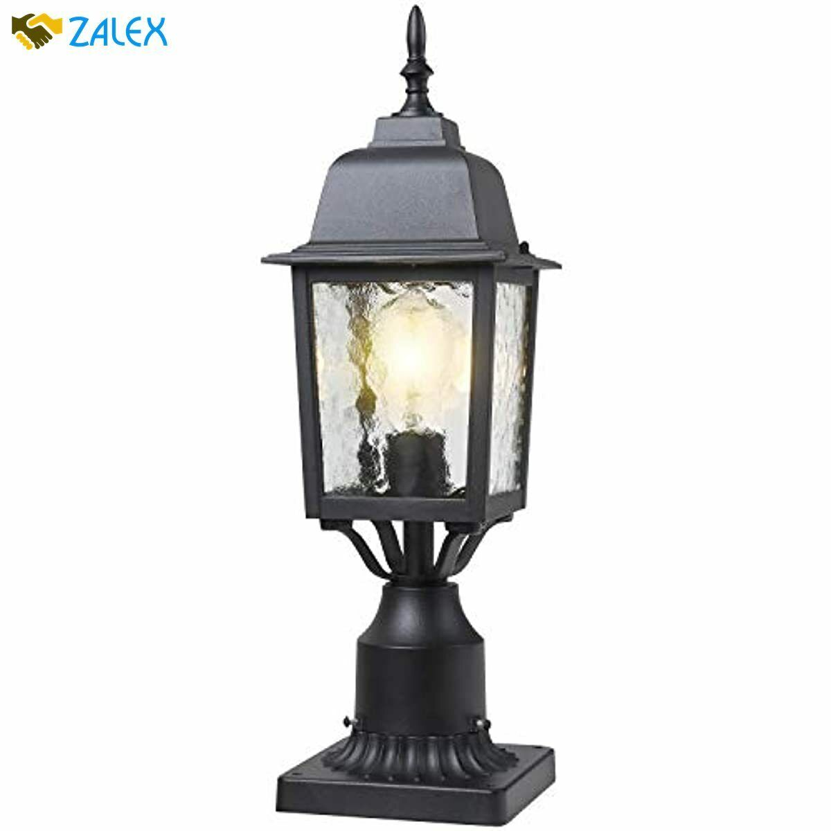 Outdoor Black Post Lantern Exterior Light Post Lighting Pillar Lamp Garden Decor