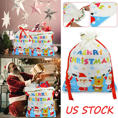 Large Christmas Bags (Wrapping Styles Large Gift Bags, Christmas Drawstring Gift Bag Packing Party)