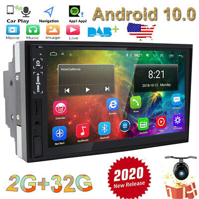 "7"" ANDROID 10.0 4CORE DOUBLE 2DIN TABLET CAR STEREO RADIO Navigation CAMERA+CCD"