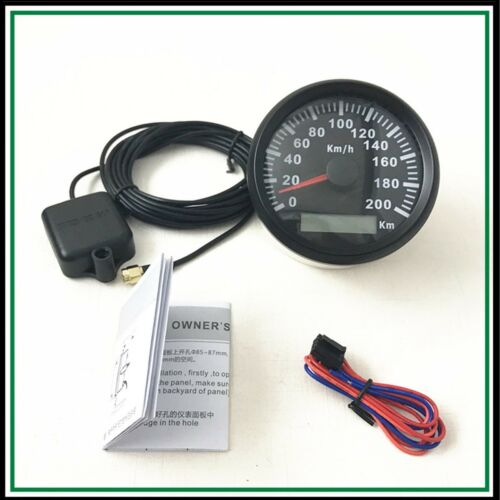 85mm 200 KM/H Car Motor Auto Stainless GPS Speedometer Digital Gauges Waterproof