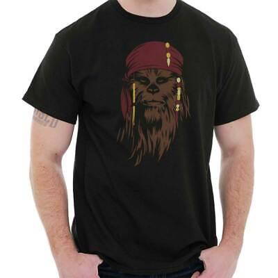 Chewbacca Star Wars Gift Pirate Caribbean Jack Sparrow Cool T Shirt (Star Wars Tshirts)
