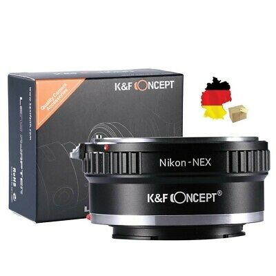 K&F Concept Adapter Nikon F Mount Objektiv auf Sony  NEX/E Mount online kaufen
