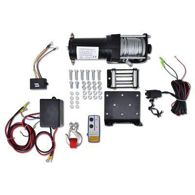 vidaXL 12V Elektrische Seilwinde 1360KG+ Montageplatte Kabellose Fernbedienung