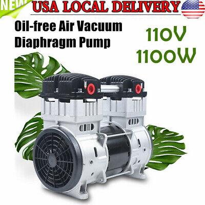 Portable Oil Free Silent Air Compressor Air Pump Vacuum Pump 1100w 200lmin Usa