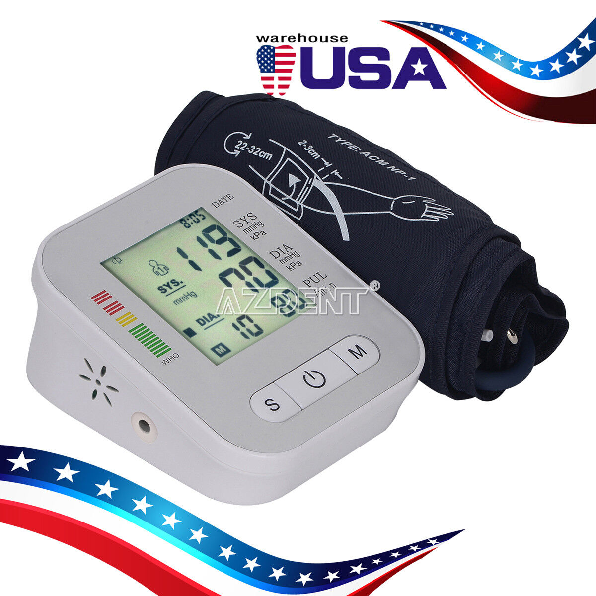Automatic Digital Upper Arm Blood Pressure Monitor Heart Rat