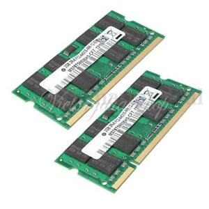 4GB (2x2GB) DDR2-800 PC2-6400 Notebook Laptop (SODIMM) Memory RAM 200-pin UK New