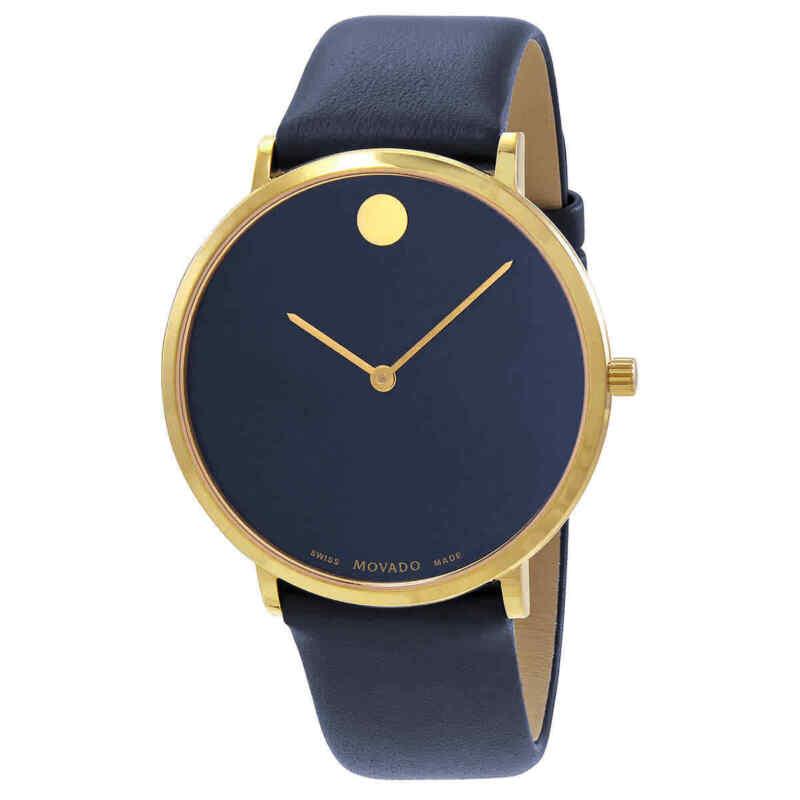 Movado Ultra Slim Museum Quartz Blue Dial Men Watch 0607259