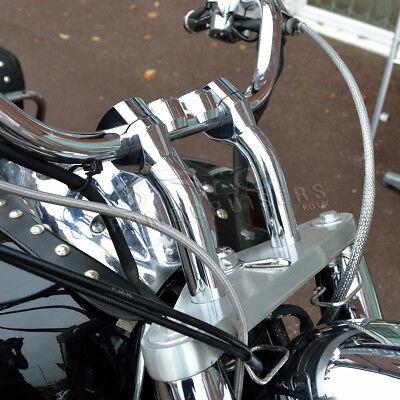 STYLISH HANDLEBAR CHROME RISERS 610  155MM  FOR HONDA VTX 1300180