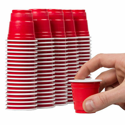 50 x 2oz Mini Red Party Cups / Shot Glasses / Beer Pong [5055202126145]