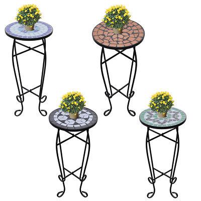 MOSAIK Beistelltisch Tisch Bistrotisch Blumenständer Blumenhocker Balkontisch