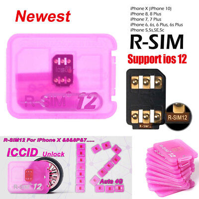 Newest RSIM 12 R-SIM Nano Unlock Card Fits iPhone X/8/7/6/6s/5S/ 4G iOS 10 11 12