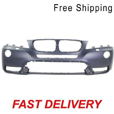 Primed Front Bumper Cover With Headlight Washer Holes Fits BMW X3 BM1000253