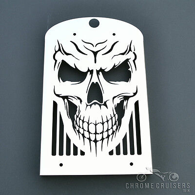 KAWASAKI VN1600 CLASSIC NOMAD SKULL STAINLESS STEEL RADIATOR COVER GUARD GRILL