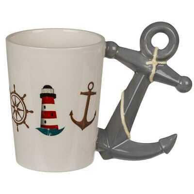 Maritime Tasse Anker Griff Kaffeetasse Kaffeebecher Geschenk Geburtstag 350 ml