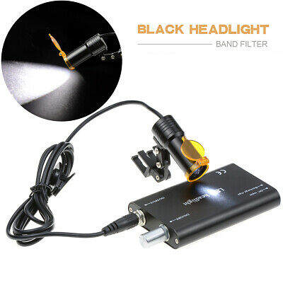 Dental Surgical 5w Led Headlight With Filter Insert Type For Dental Loupes Black