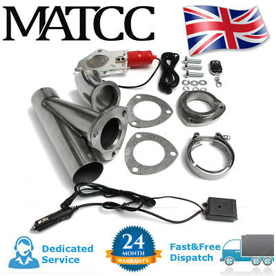 """2.5"""" ELECTRIC EXHAUST VALVE CATBACK/DOWNPIPE E-CUT OUT INTELLIGENT SYSTEM QUICK"""