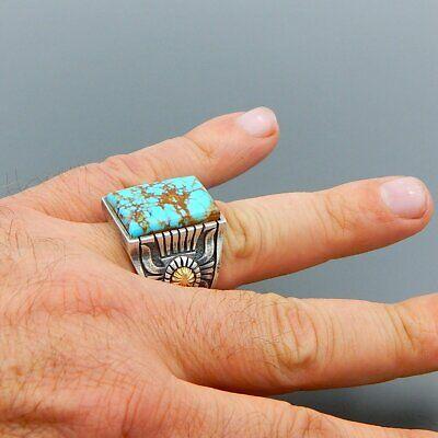 Wholesale Navajo Indian Handmade Silver Turquoise Ring Women Men Vintage -