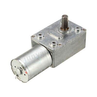 Dc 6v12v 1-30rpm Geared Motor Gw370 High Torque Turbo Worm Gear Box Motors