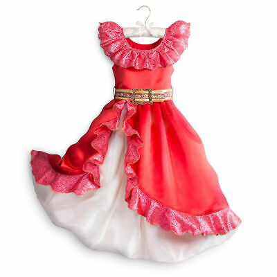 Disney Store Elena of Avalor Girls Costume Dress Up Princess Halloween Outfit (Disney Princess Dress Up Outfits)