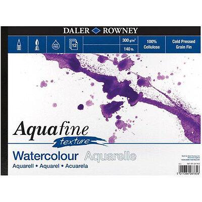 Daler Rowney Aquafine Watercolour Pad 12 Sheets 140lb / 300gsm - A4 TEXTURE