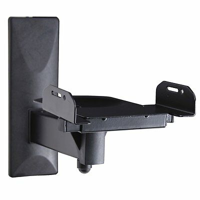 VideoSecu One Pair of Side Clamping Speaker Mounting Bracket with Tilt and