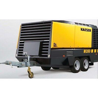 2014 Kaeser M350 Towable Diesel Air Compressor Tier 3 Part Number 109350.0030