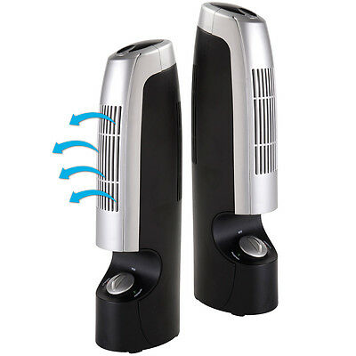 "2x12"" Air Purifier Ionizer Ioniser Silent Fresher Revitaliser Cleaner Two Speed"