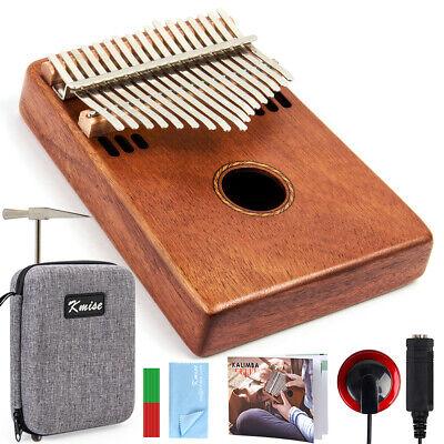 Kmise Kalimba 17 Key Thumb Piano Marib Mahogany with Gig Bag Tuner Hammer