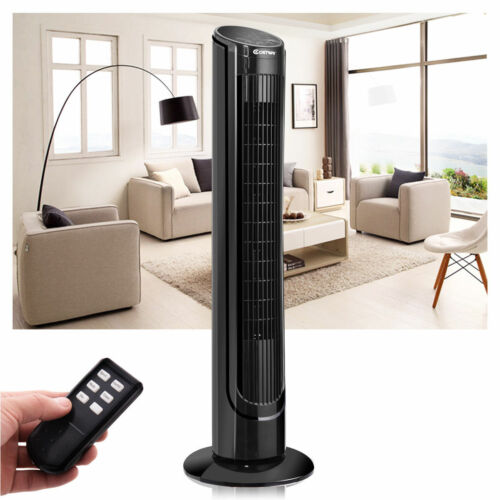 """Costway 40"""" LCD Tower Fan Digital Control Oscillating Cooling Bladeless"""