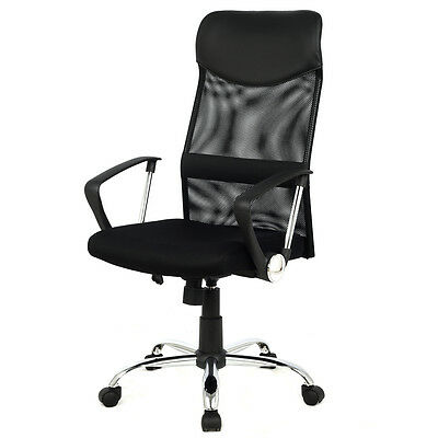 Modern Ergonomic Mesh High Back Executive Computer Desk Task Office Chair Black