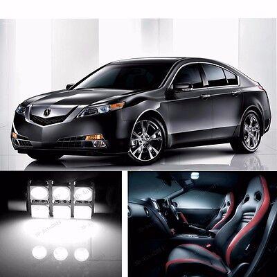 15pcs LED Xenon White Light Interior Package Kit for Acura TSX 2009-2015