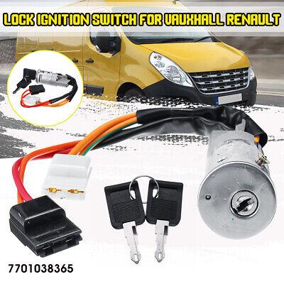 Ignition Lock Barrel Switch & 2 Key For Vauxhall Vivaro Renault Trafic Primastar