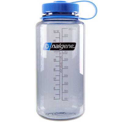 Nalgene Tritan Wide Mouth Water Bottle - 32 oz. - Gray/Blue Wide Mouth Water Bottle