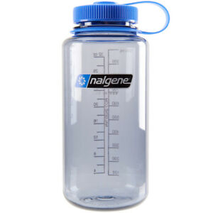 nalgene tritan wide mouth water bottle 32 oz grayblue