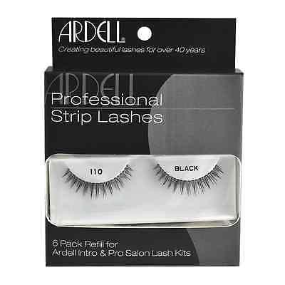 6 Pack Refill Kit Ardell Strip Lashes 110 black Internation Free (Lashes 6 Pack Refills)
