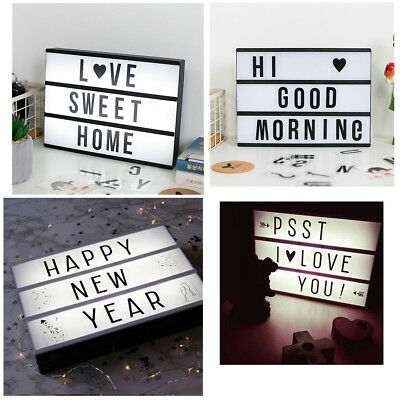 141 Letters A4 Cinematic Cinema Light Up Letter Sign Box Lightbox Wedding Party