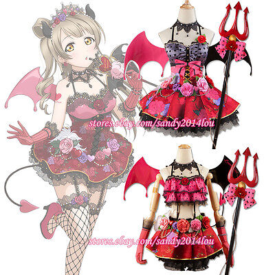 Love Live Lovelive Devil Demon Akuma Awake Nico Rin Cosplay Costume With Wing