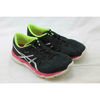 ASICS Women's Onyx/Hot Pink/Flash Yellow 33-FA Sneaker 7M (S5188)